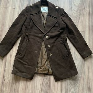 EUC Brown Burberry Wool Coat Vintage